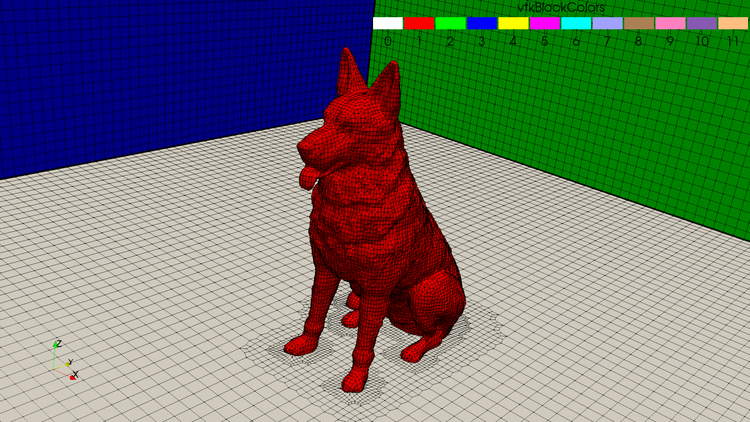 Surface mesh with cfMesh